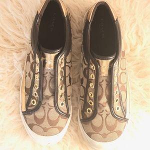Coach Slip On Sneakers, Size 8B. Like New